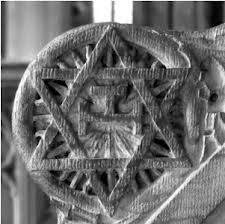 La Estrella de David, simbolizando al Hijo de la creación, al Cristo.